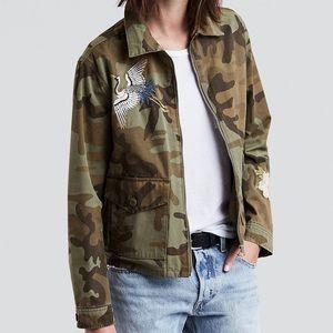 Levi's Embroidered Camoflauge Jacket